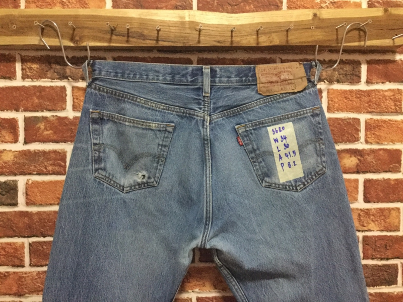 รหัส3620 Levi's501  Made in Dominican